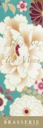 Afternoon Tea Menu – Guoman