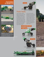 Planter Reality FEATURES & BENEFITS - Great Plains Manufacturing