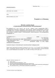 załącznik do karty NR OS-04-05 - Warszawa