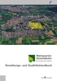 Gestaltungs- und Qualitätshandbuch - bei der Stadt Sindelfingen