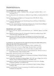 Litteraturlista (PDF 34 kB) - Historiska institutionen