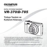 Türkçe Tanıtım ve Kullanım Kılavuzu VR-370/D-785 - Olympus