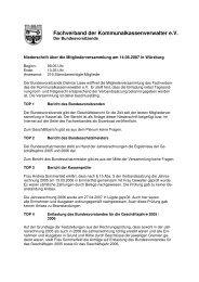 Protokoll der Mitgliederversammlung - kassenverwalter.de