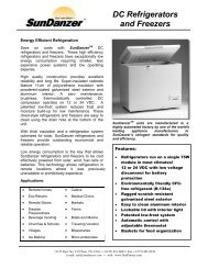 DC Refrigerators and Freezers - Sundanzer.com