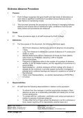 Sickness Absence Procedure - Perth College - Page 3