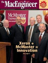 MacEngineer Winter 2005 - Faculty of Engineering - McMaster ...