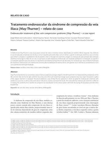 Tratamento endovascular da síndrome de compressão da ... - SciELO