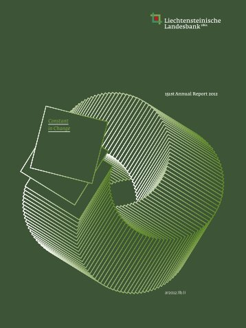 LLB 151st Annual Report 2012 – 151st Annual Report 2012