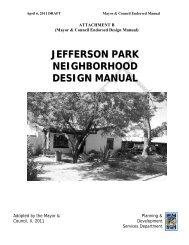 jefferson park neighborhood design manual - Urban University ...