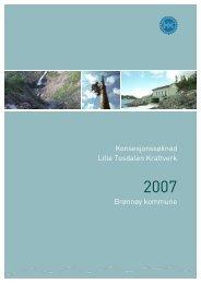 Konsesjonssøknad Lille Tosdalen Kraftverk ... - Helgelandskraft