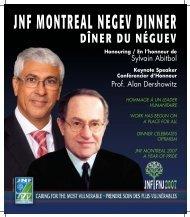 DÎNER DU NÉGUEV - Jewish National Fund Montreal