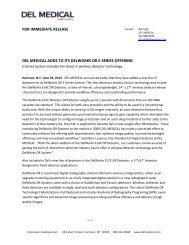 for immediate release del medical adds to its delworks dr e-series ...