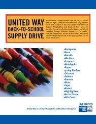 united way back-to-school supply drive