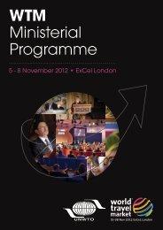 WTM Ministerial Programme - World Travel Market