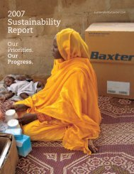 2007 Sustainability Report - Baxter Sustainability Report