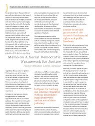 Memo on A Social Democratic Framework for Justice - Policy Network