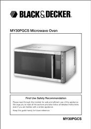 MY30PGCS Microwave Oven - Service