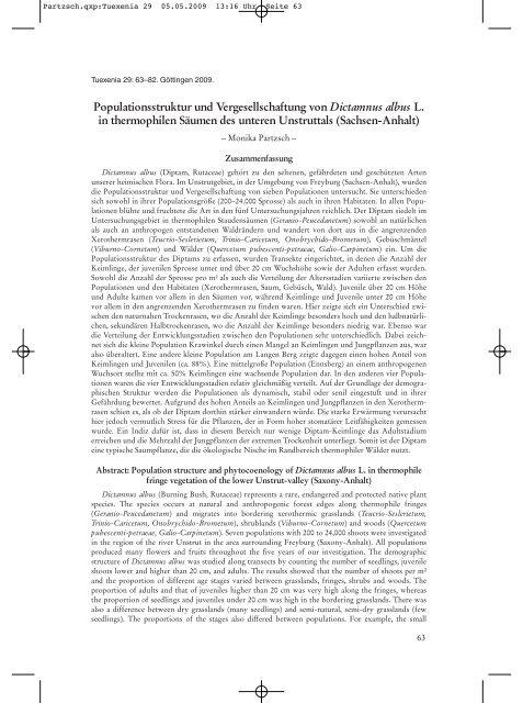 Partzsch.qxp:Tuexenia 29 - Fachbereich Biologie der Uni Halle ...