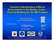 Physical Modeling for the SBI Program - Naval Postgraduate School