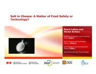 Salt in Cheese: A Matter of Food Safety or Technology?