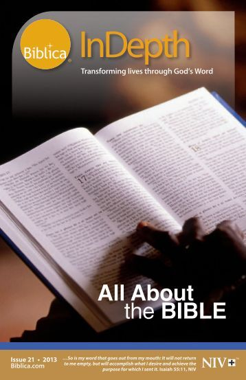 Issue 21 - 2013 - All About the BIBLE - Biblica