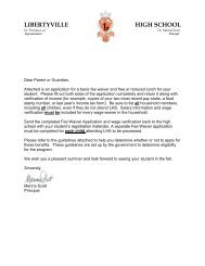 Fee Waiver Application Packet - Libertyville High School