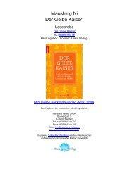Maoshing Ni Der Gelbe Kaiser