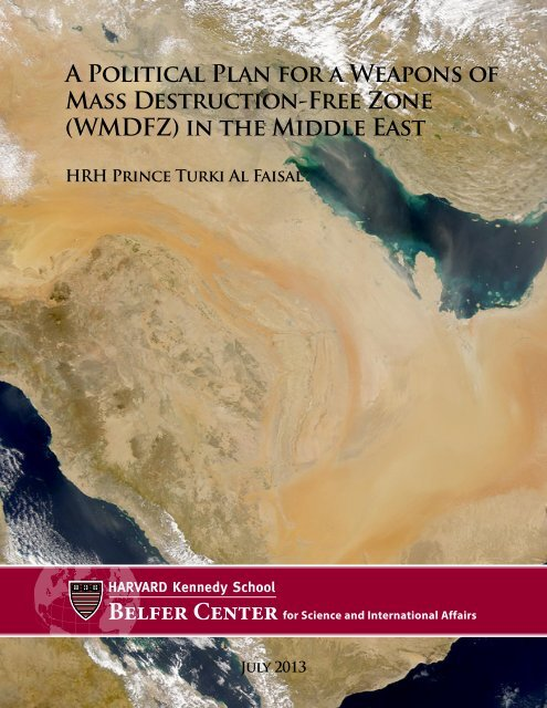 A Political Plan for a Weapons of Mass Destruction-Free Zone ...