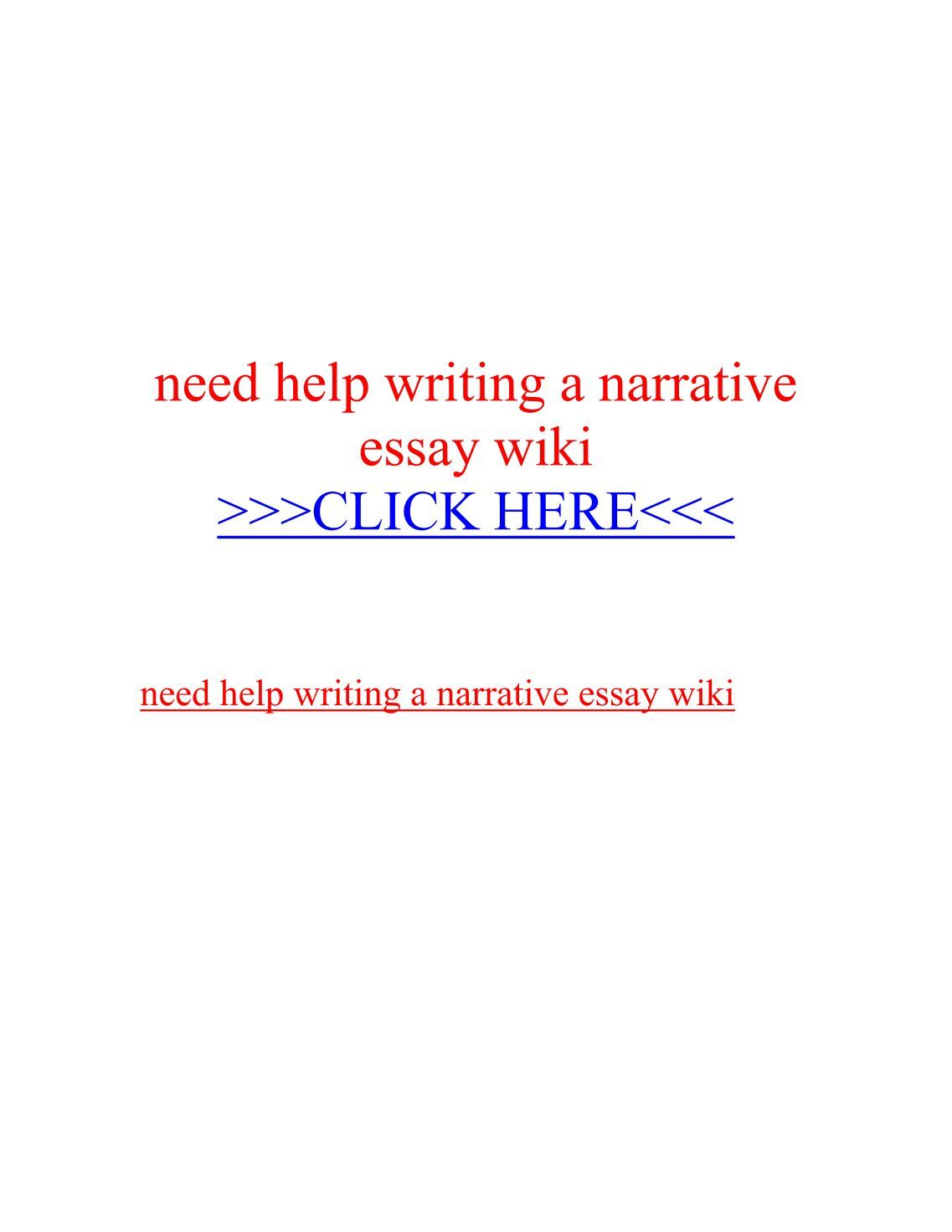 help with writing a narrative essay Narrative essays are a popular type of academic writing both high school and college students write loads of them these essays show your creativity, character, and ability to tell a compelling story telling a great story could be a challenging task that's why essaypro's qualified team have compiled a list of things you need.