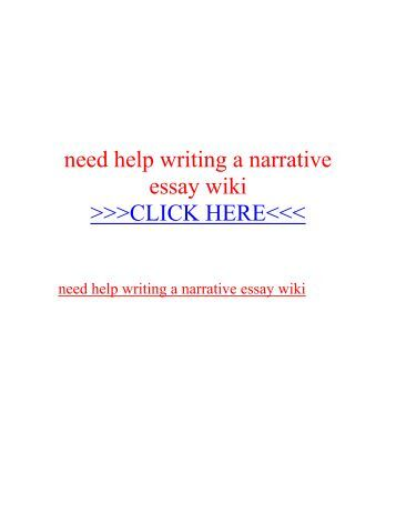 Narrative writing service
