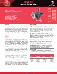 Series 3000 Internal Safety Valve - Protectoseal