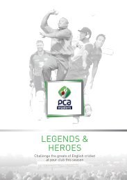 PCA Masters Brochure 2013 - The Professional Cricketers' Association
