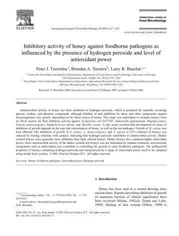 Inhibitory activity of honey against foodborne pathogens ... - UN Virtual