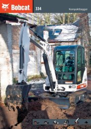 Technische Daten Bagger 334 - Bobcat.eu