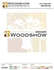 WoodShow Workshop Sponsor - Dubai Woodshow