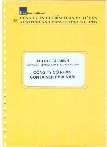 VSG: Báo cáo tài chính kiểm toán năm 2007 - SJCS