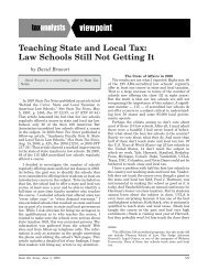 Teaching State and Local Tax: Law Schools Still Not ... - TaxProf Blog