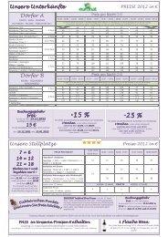 Download Preise und Bedingungen - Euronat