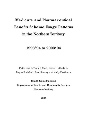 Medicare and Pharmaceutical Benefits Scheme usage patterns in ...