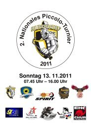 Programm Piccolo-Turnier 2011-4 - EHC Burgdorf