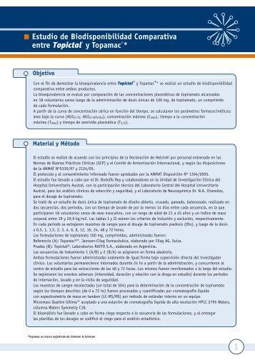 Estudio de Biodisponibilidad Comparativa entre Topictal® y ... - Raffo