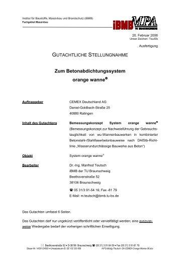 Zum Betonabdichtungssystem orange wanne - Cemex Deutschland ...