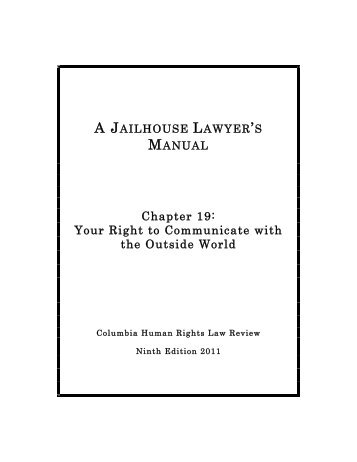 Your Right to Communicate With the Outside World - Columbia Law ...