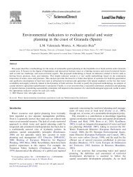 Environmental indicators to evaluate spatial and water planning in ...