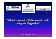 Proposte per l'allenamento nella categoria Ragazzi/e - Fidal Piemonte