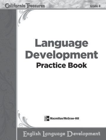 Language Development - Treasures - Macmillan/McGraw-Hill