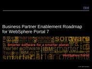 Business Partner Enablement Roadmap for WebSphere Portal 7