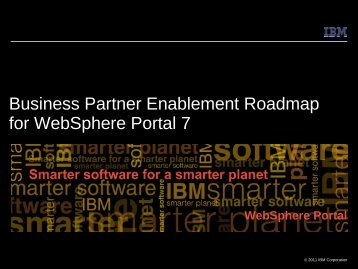 Business Partner Enablement Roadmap for WebSphere Portal 7