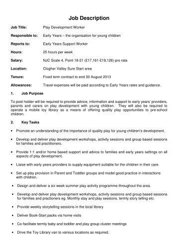 Job Description - Early Years