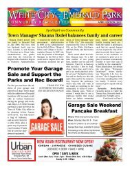Promote Your Garage Sale and Support the Parks and ... - White City
